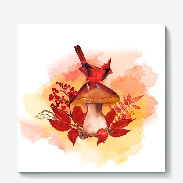 Холст «кардинал птица»