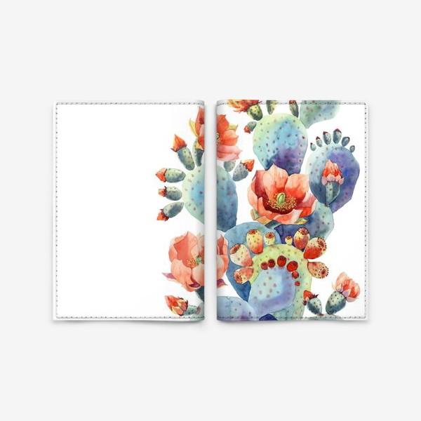 Обложка для паспорта «Кактусы»