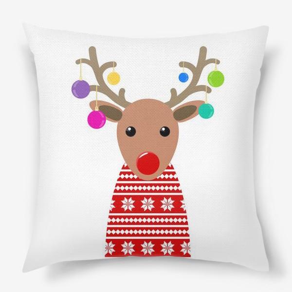 Подушка «Новогодний олень»