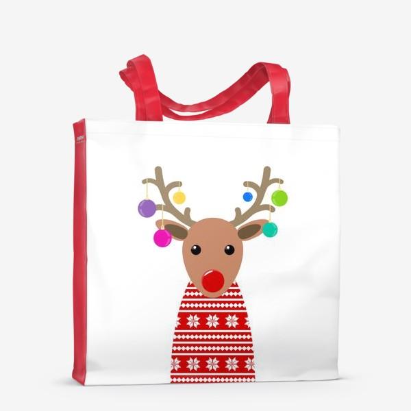 Сумка-шоппер «Новогодний олень»