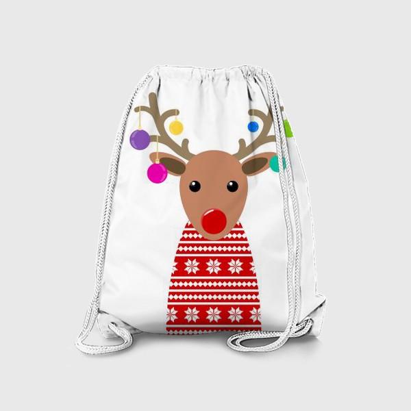 Рюкзак «Новогодний олень»