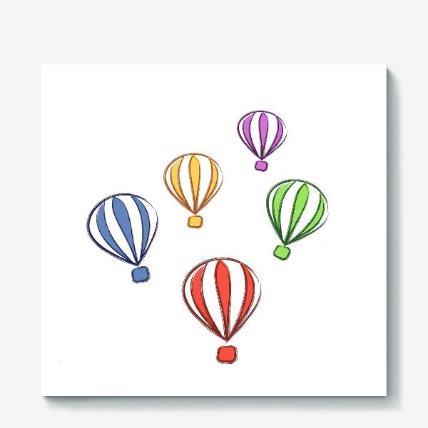 Холст «цветные воздушные шары»