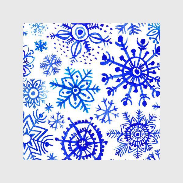 Шторы «Снежинки гжель»