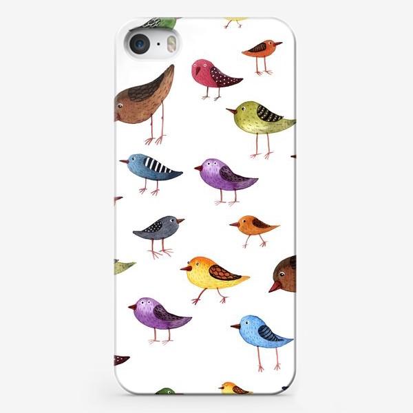 Чехол iPhone «Паттерн Птички»