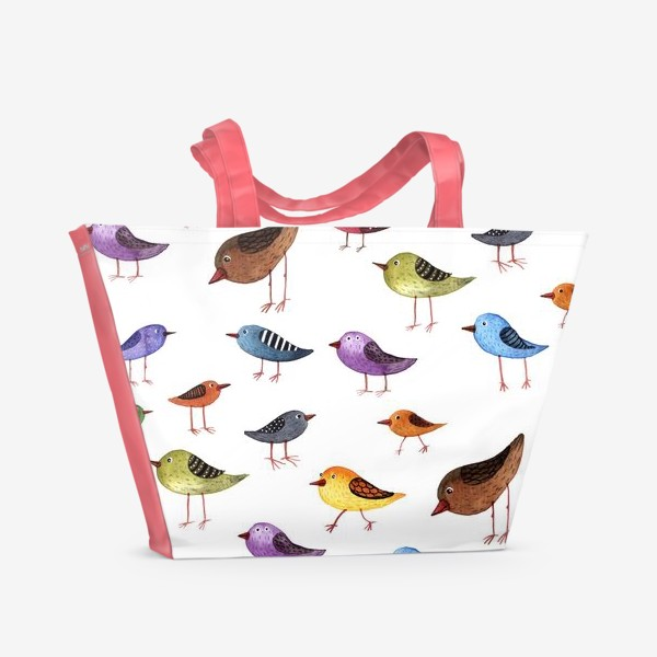 Пляжная сумка «Паттерн Птички»