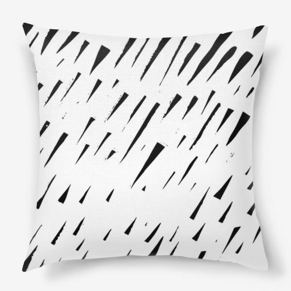 Подушка «Абстрасктный фон острые треугольники »
