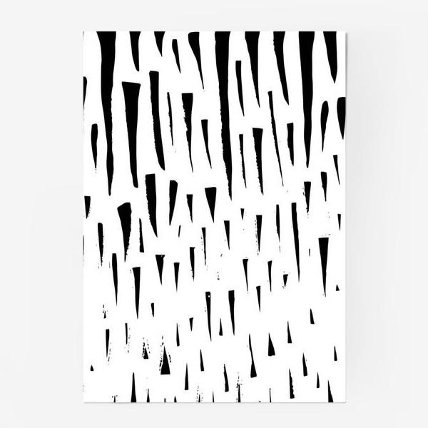 Постер «Абстрасктный фон острые треугольники »