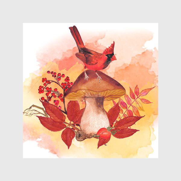 Скатерть «кардинал птица»