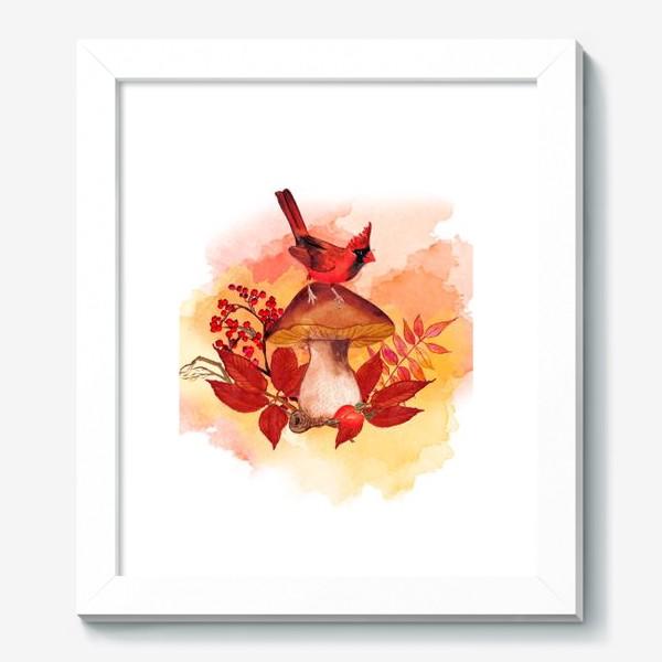 Картина «кардинал птица»