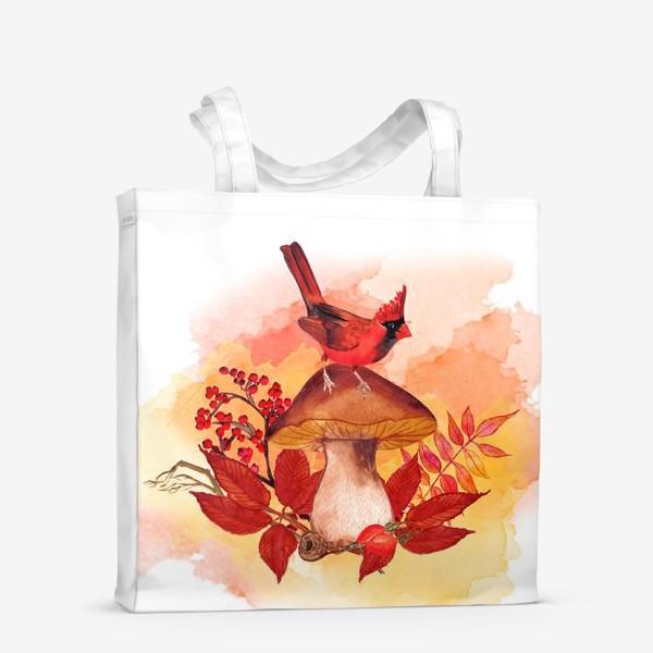 Сумка-шоппер «кардинал птица»