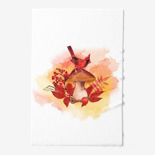 Полотенце «кардинал птица»