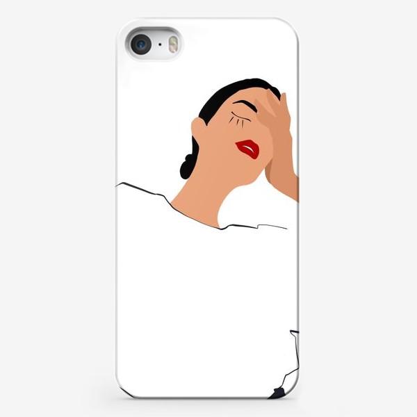 Чехол iPhone «Девушка в белом»