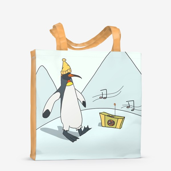 Сумка-шоппер «Танцующий пингвин»
