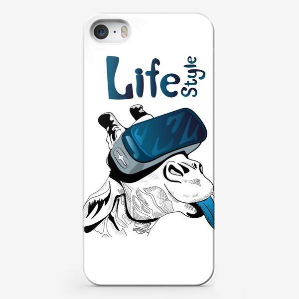 Чехол iPhone «Стиль жизни. Жираф в очках виртуальной реальности»