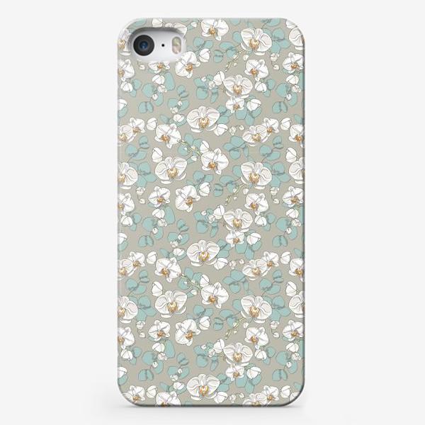 Чехол iPhone «Любимые цветы-белые орхидеи»