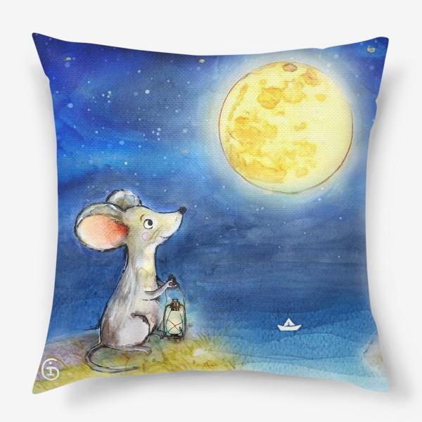 Подушка «Мышка и луна»