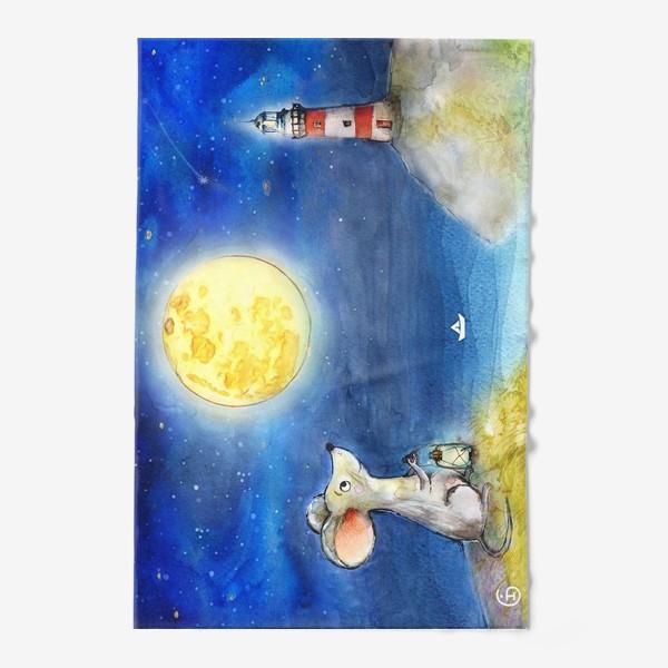 Полотенце «Мышка и луна»