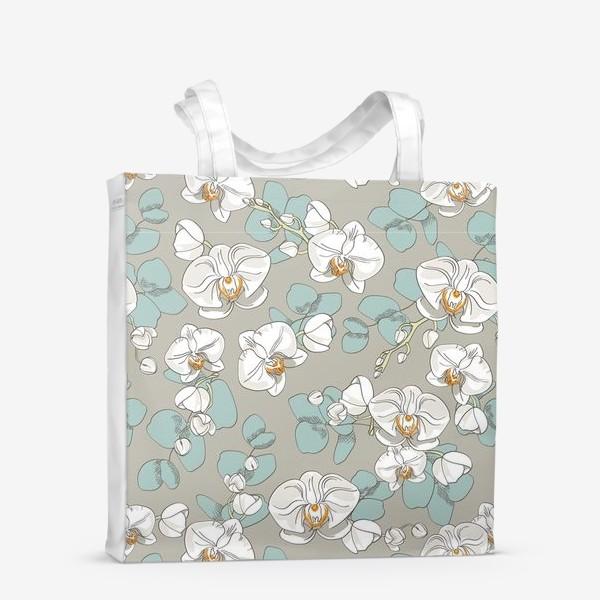 Сумка-шоппер «Любимые цветы-белые орхидеи»