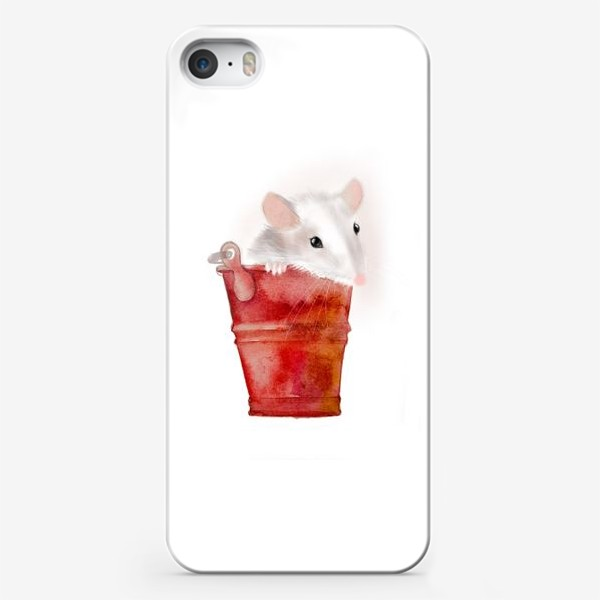Чехол iPhone «Мышка в ведерке»