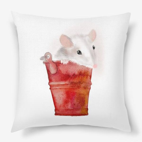 Подушка «Мышка в ведерке»