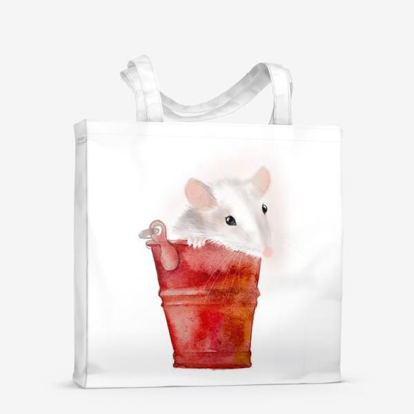 Сумка-шоппер «Мышка в ведерке»