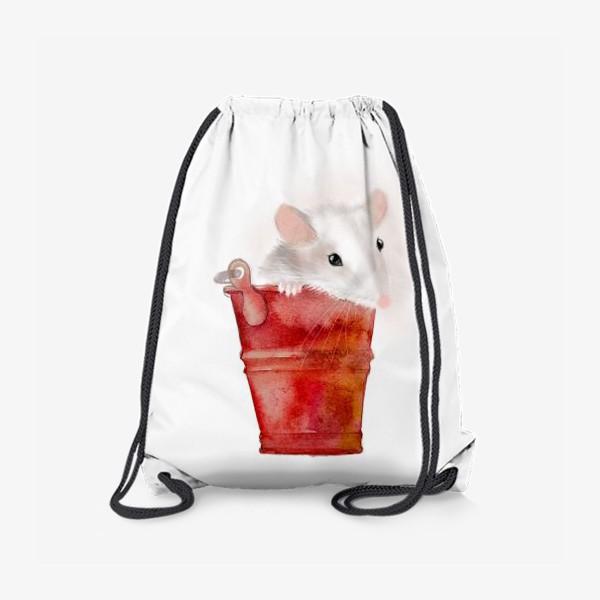 Рюкзак «Мышка в ведерке»
