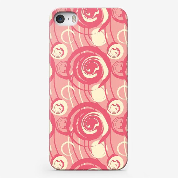 Чехол iPhone «Абстрактный паттерн круги и спирали»