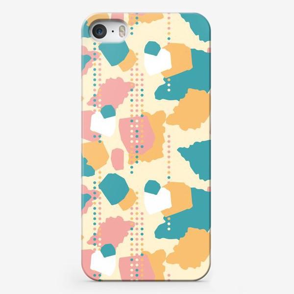 Чехол iPhone «Абстрактный паттерн пятна и точки»
