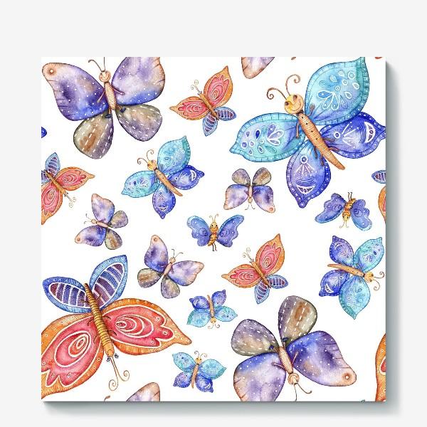 Холст «бесшовный паттерн Бабочки»