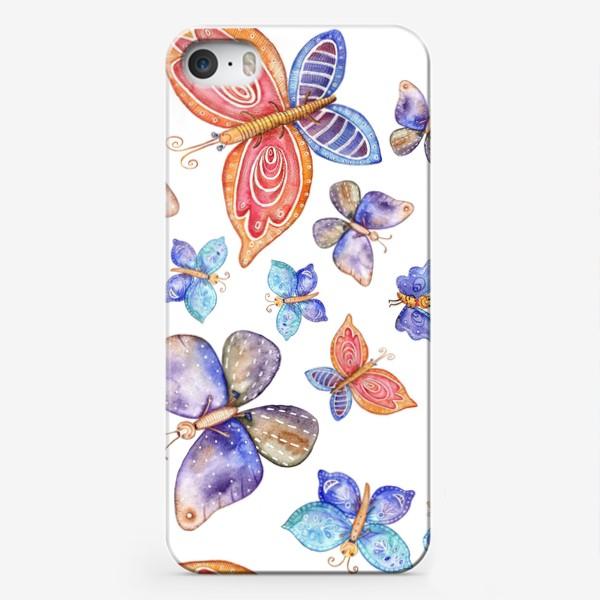Чехол iPhone «бесшовный паттерн Бабочки»