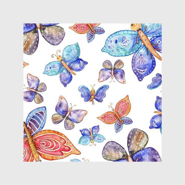 Шторы «бесшовный паттерн Бабочки»
