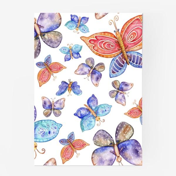 Постер «бесшовный паттерн Бабочки»