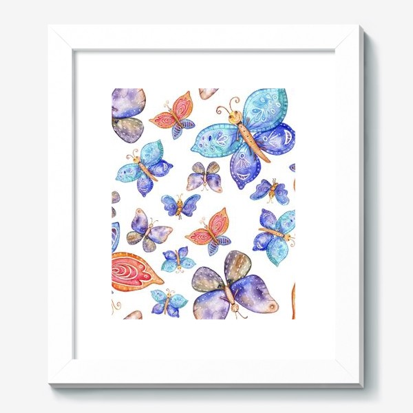 Картина «бесшовный паттерн Бабочки»