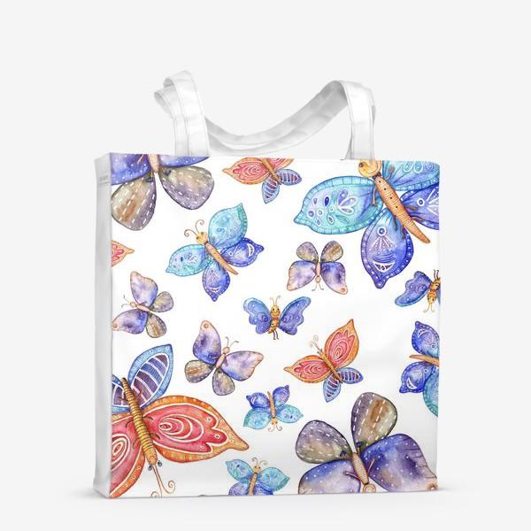Сумка-шоппер «бесшовный паттерн Бабочки»