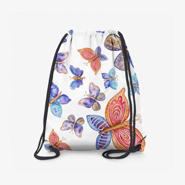 Рюкзак «бесшовный паттерн Бабочки»