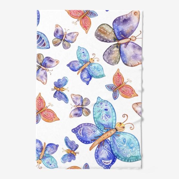 Полотенце «бесшовный паттерн Бабочки»