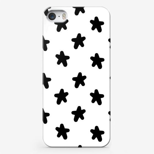 Чехол iPhone «Cute stars black on white»