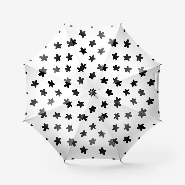 Зонт «Cute stars black on white»