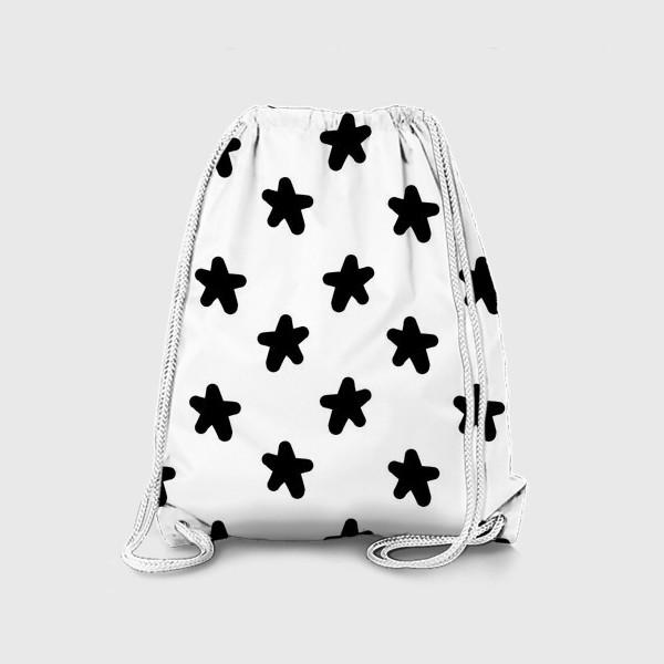 Рюкзак «Cute stars black on white»