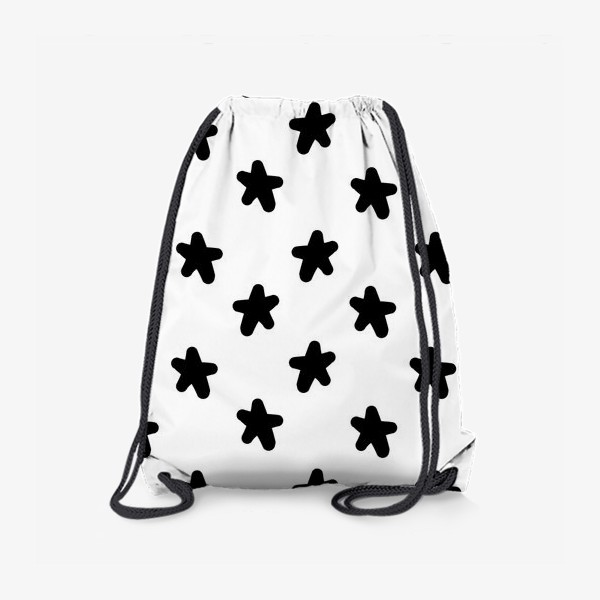 Рюкзак «Cute stars black on white»