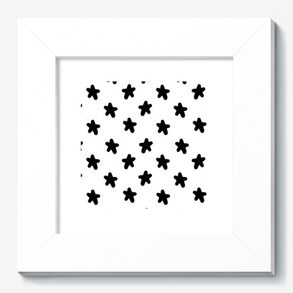 Картина «Cute stars black on white»