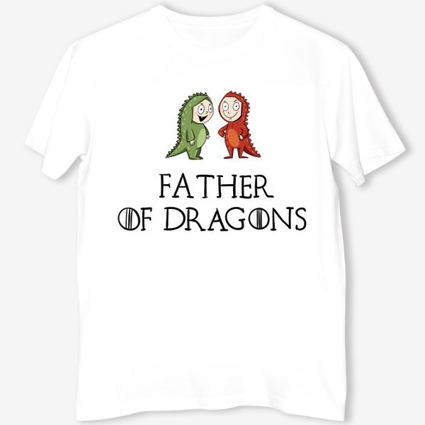 Футболка «Father of 2 dragons»