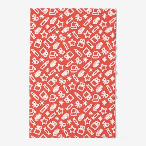 Полотенце «Новогодний узор, красный»