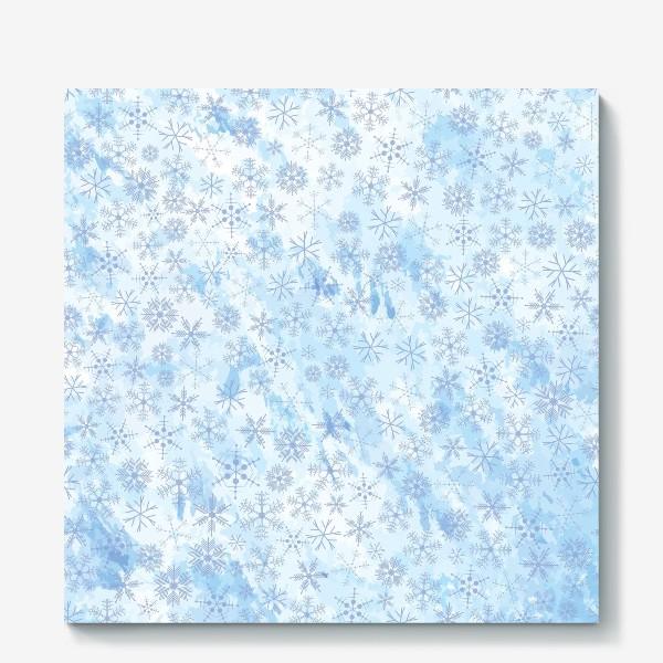 Холст «Снежинки нежные»