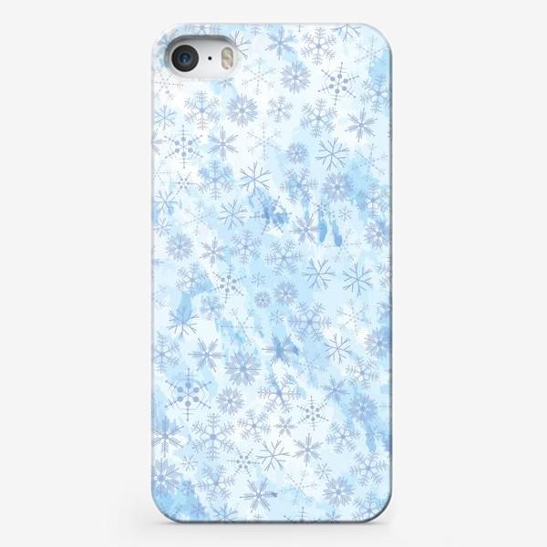 Чехол iPhone «Снежинки нежные»