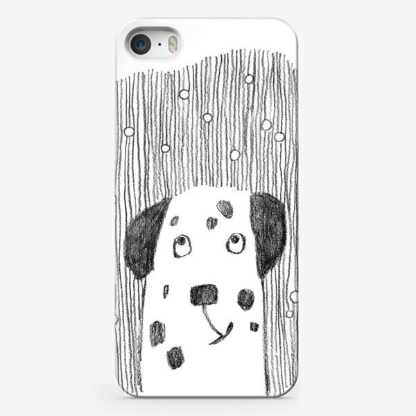 Чехол iPhone «Пёс и снег»