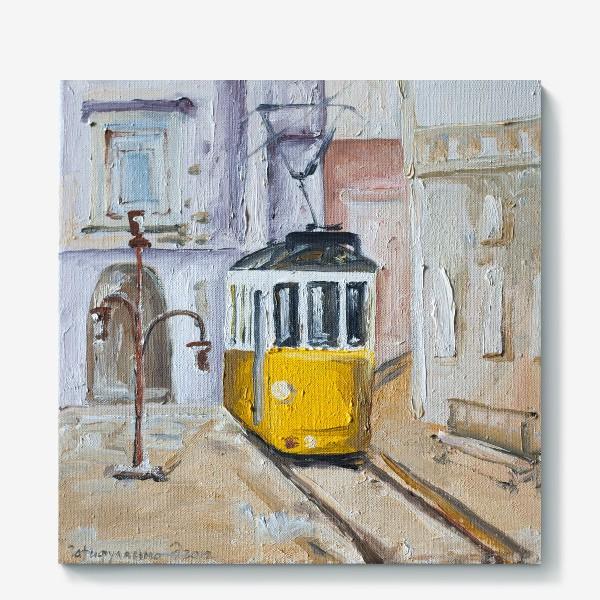 Холст «Трамвай №28»