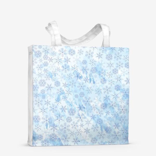 Сумка-шоппер «Снежинки нежные»