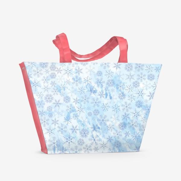 Пляжная сумка «Снежинки нежные»