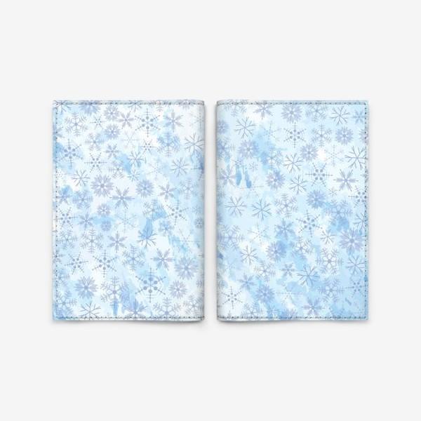 Обложка для паспорта «Снежинки нежные»